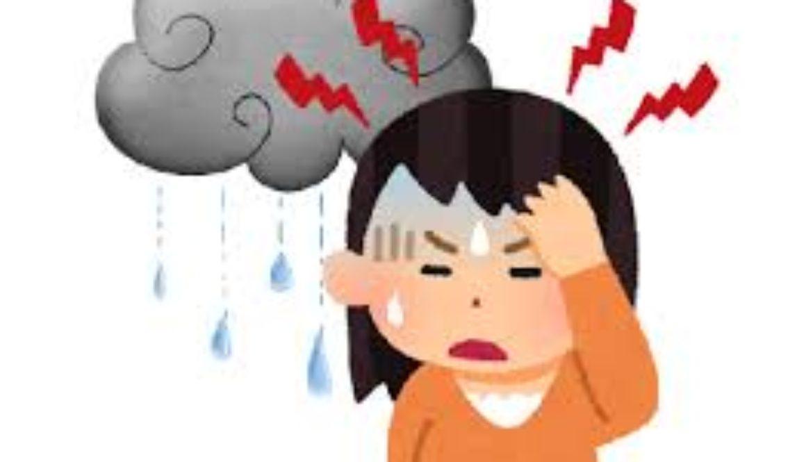梅雨時期の不調